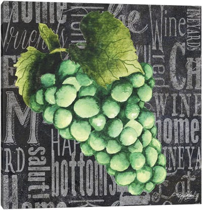 Wine Grapes II Canvas Art Print
