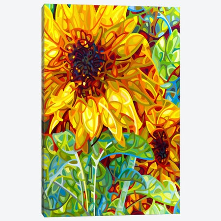 Summer in the Garden Canvas Print #MBD19} by Mandy Budan Canvas Art