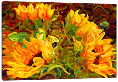 Four Sunflowers Canvas Print #MBD4