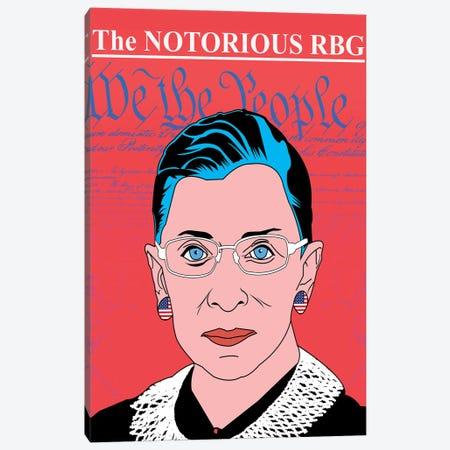 Ruth Bader Ginsberg Canvas Print #MBH17} by Mark Ben Harris Canvas Print