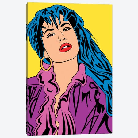 Selena Canvas Print #MBH18} by Mark Ben Harris Canvas Artwork