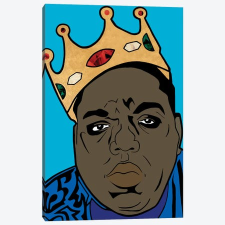 Notorious B.I.G. Canvas Print #MBH1} by Mark Ben Harris Canvas Wall Art