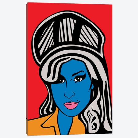 Amy Winehouse Canvas Print #MBH20} by Mark Ben Harris Canvas Print