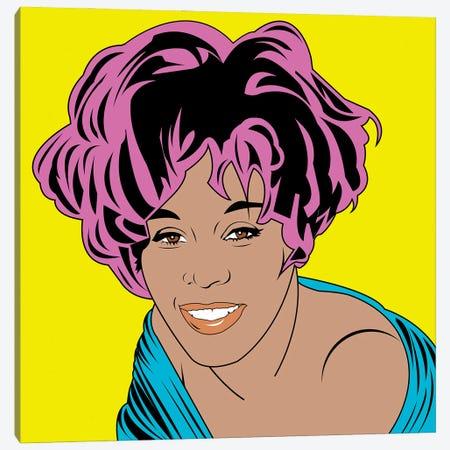 Whitney Houston Canvas Print #MBH33} by Mark Ben Harris Canvas Artwork