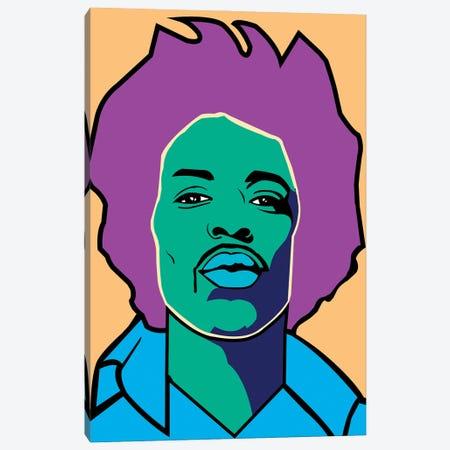 Jimi Hendrix Canvas Print #MBH8} by Mark Ben Harris Canvas Artwork