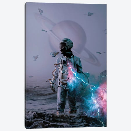 Astro Collusion Canvas Print #MBK6} by Marischa Becker Canvas Art