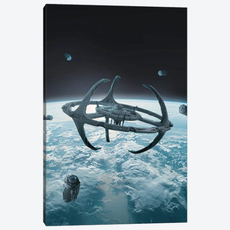Space Station Canvas Print #MBK73} by Marischa Becker Canvas Print