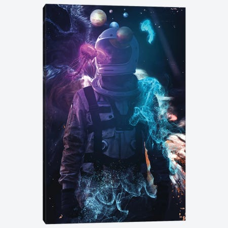 Astroverse Canvas Print #MBK7} by Marischa Becker Canvas Artwork