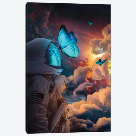 The Social Butterfly Canvas Print #MBK80} by Marischa Becker Canvas Wall Art