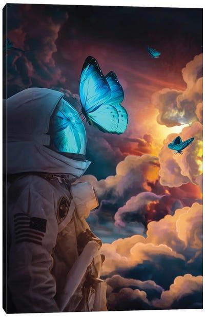 The Social Butterfly Canvas Art Print