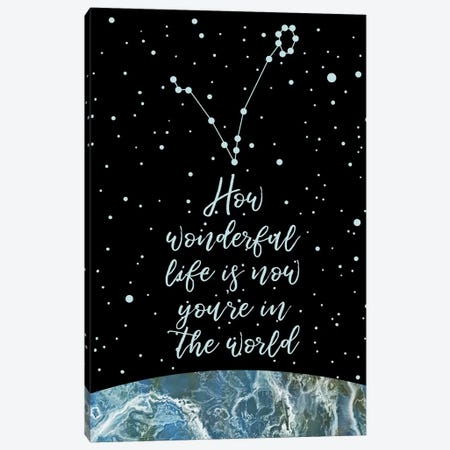 Constellation (Pisces) Canvas Print #MBL10} by Marble Art Co Canvas Wall Art