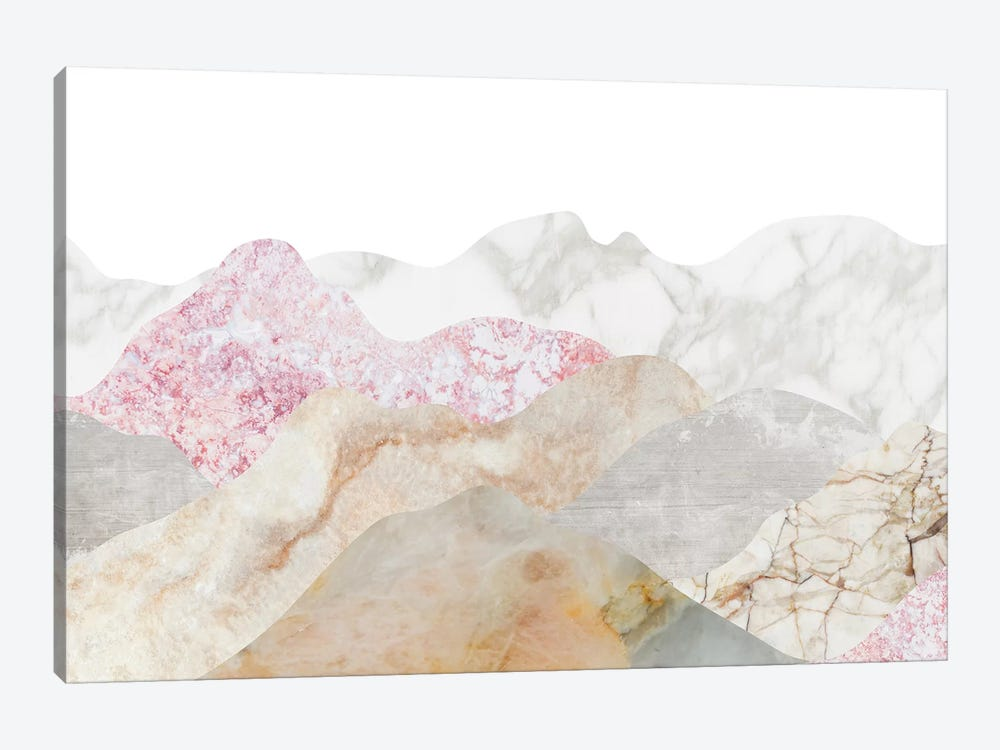 Mountain Landscape by Marble Art Co 1-piece Canvas Wall Art