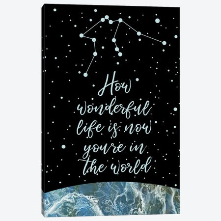 Constellation (Aquarius) Canvas Print #MBL3} by Marble Art Co Canvas Art