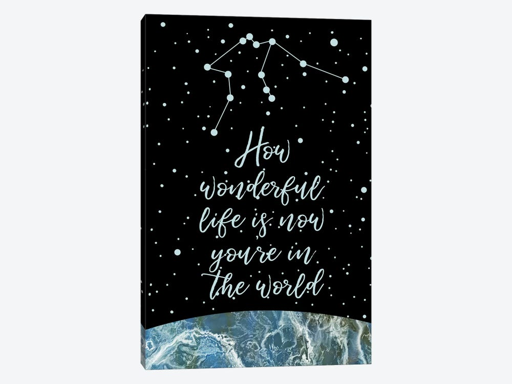 Constellation (Aquarius) by Marble Art Co 1-piece Canvas Art