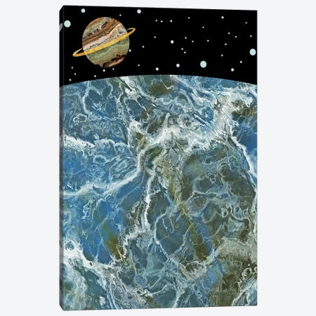 Space II 3-Piece Canvas #MBL46} by Marble Art Co Canvas Wall Art