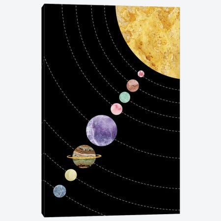 Space XVII Canvas Print #MBL53} by Marble Art Co Canvas Wall Art