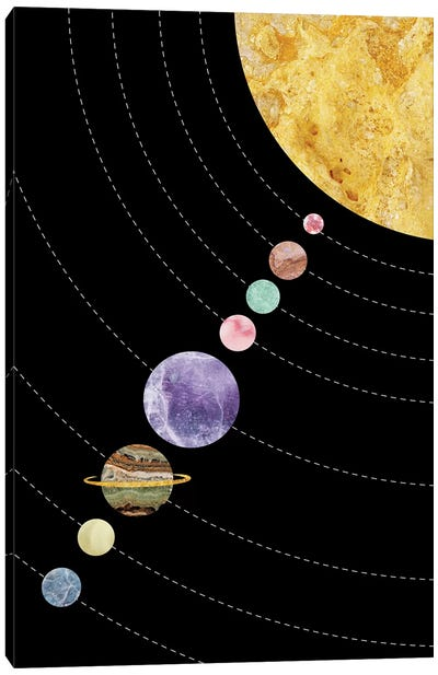 Space XVII Canvas Art Print
