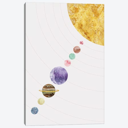 Space XVIII Canvas Print #MBL54} by Marble Art Co Art Print