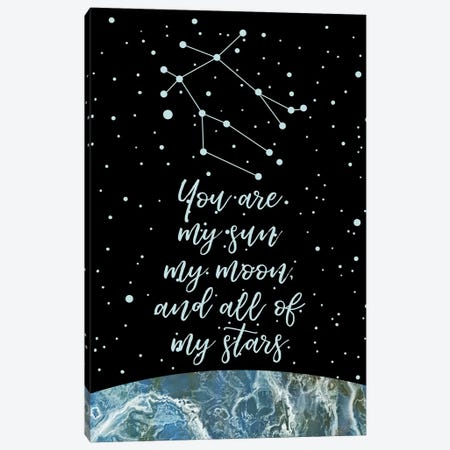 Zodiac (Gemini) Canvas Print #MBL68} by Marble Art Co Canvas Print