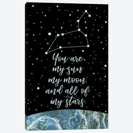 Zodiac (Leo) Canvas Print #MBL69} by Marble Art Co Art Print