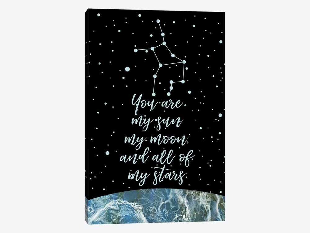 Zodiac (Virgo) by Marble Art Co 1-piece Canvas Print