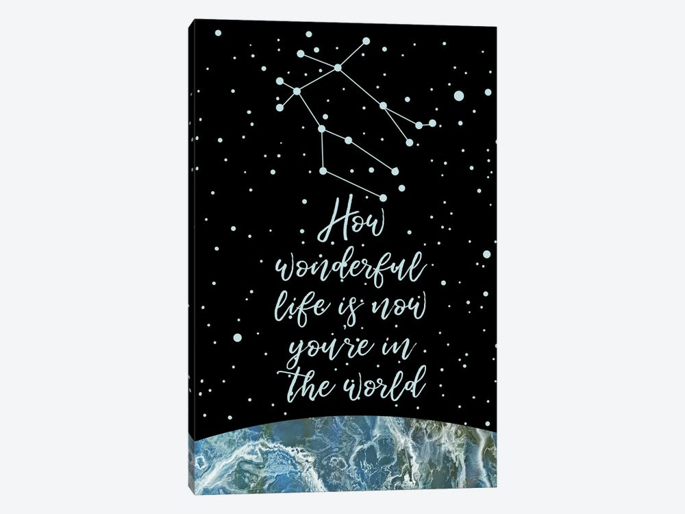Constellation (Gemini) by Marble Art Co 1-piece Canvas Wall Art