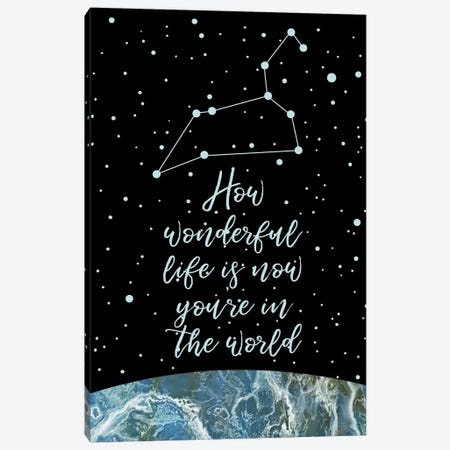 Constellation (Leo) Canvas Print #MBL8} by Marble Art Co Canvas Artwork