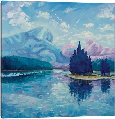 Two Mountains Canvas Art Print