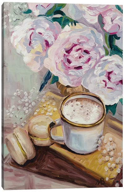 Coffee And Macaroons Canvas Art Print