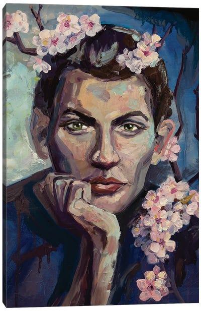 A Man With Green Eyes Canvas Art Print