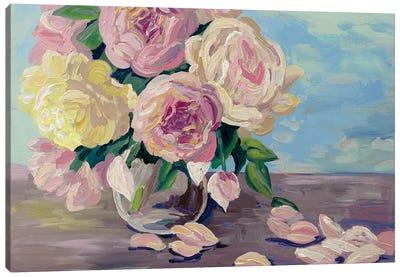Vase With Peonies Canvas Art Print