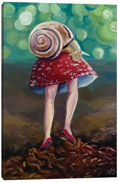 Mushroom With Legs Canvas Art Print