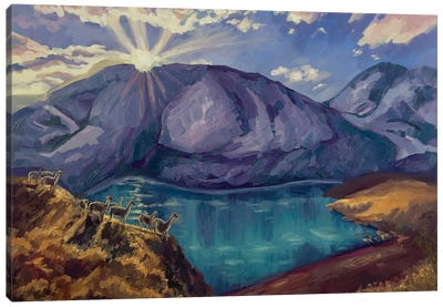 The Last Rays Of The Sun Canvas Art Print