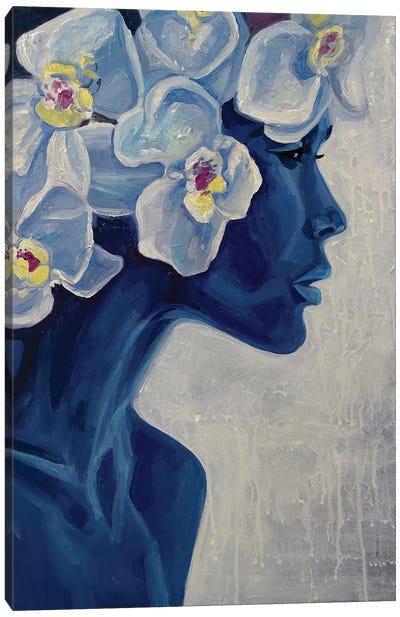 Portrait Of African American Girl Canvas Art Print