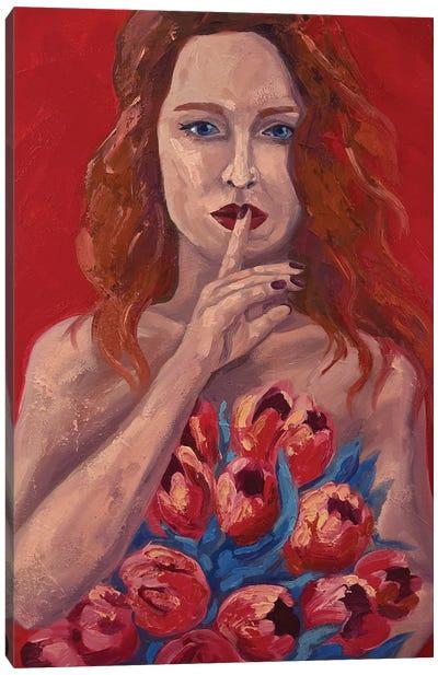 Girl With Orange Hair Canvas Art Print