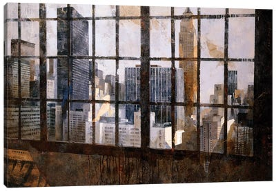 Window Over Empire State Canvas Art Print