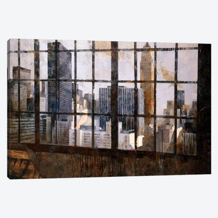 Window Over Empire State 3-Piece Canvas #MBO10} by Marti Bofarull Canvas Art Print