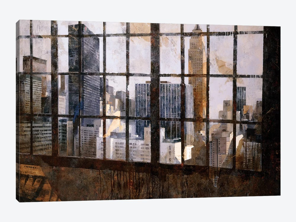 Window Over Empire State by Marti Bofarull 1-piece Canvas Wall Art