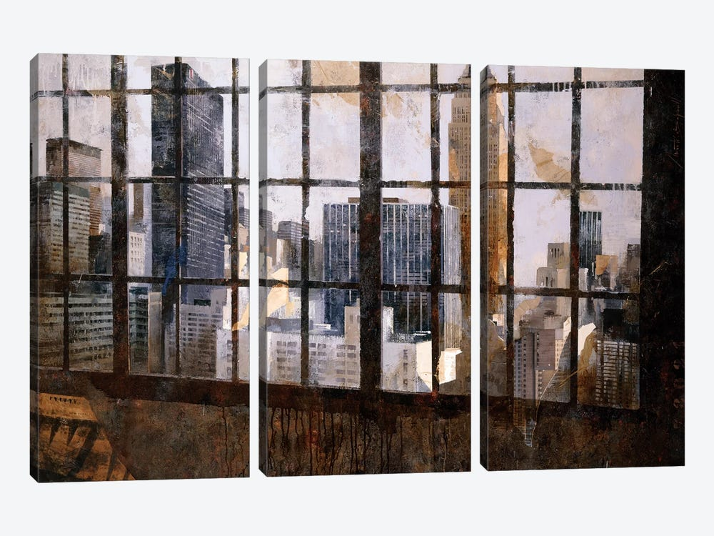 Window Over Empire State by Marti Bofarull 3-piece Canvas Wall Art