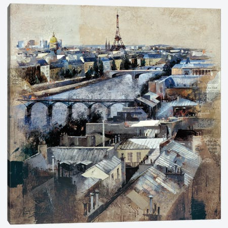 Paris Canvas Print #MBO11} by Marti Bofarull Art Print
