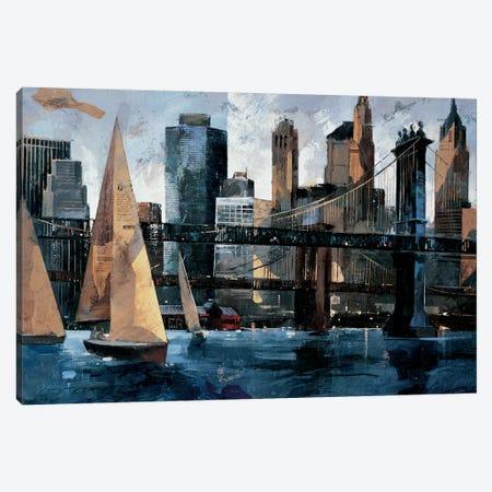 Sailboat In Manhattan II Canvas Print #MBO12} by Marti Bofarull Canvas Print