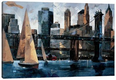 Sailboat In Manhattan II Canvas Art Print