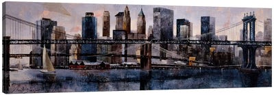 Brooklyn And Manhattan Bridges Canvas Art Print