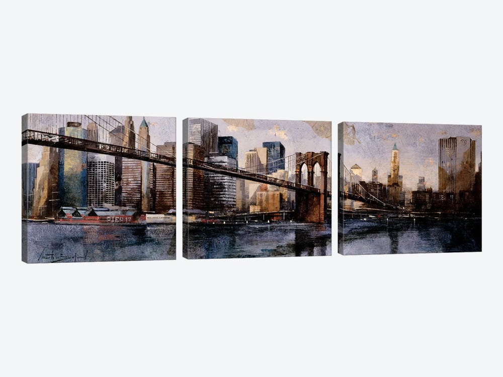 Going To The City by Marti Bofarull 3-piece Art Print
