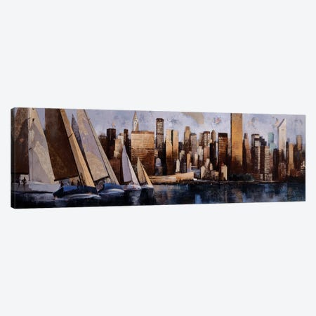 Sailing In Manhattan 3-Piece Canvas #MBO6} by Marti Bofarull Canvas Artwork