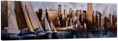 Sailing In Manhattan Canvas Art Print