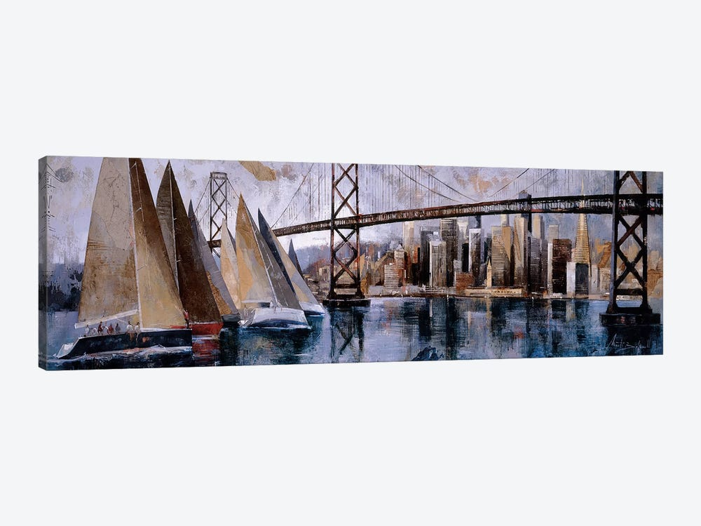 Sailing In San Francisco by Marti Bofarull 1-piece Canvas Print