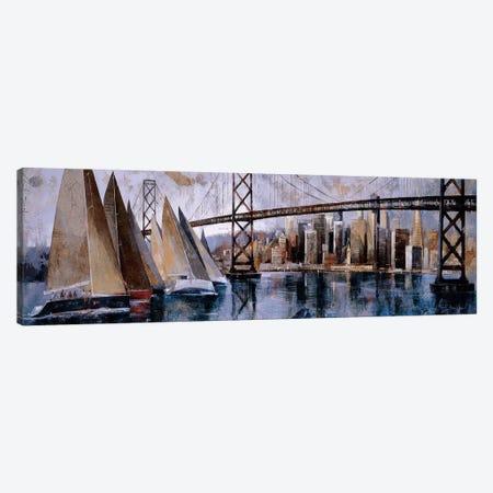 Sailing In San Francisco Canvas Print #MBO7} by Marti Bofarull Canvas Art