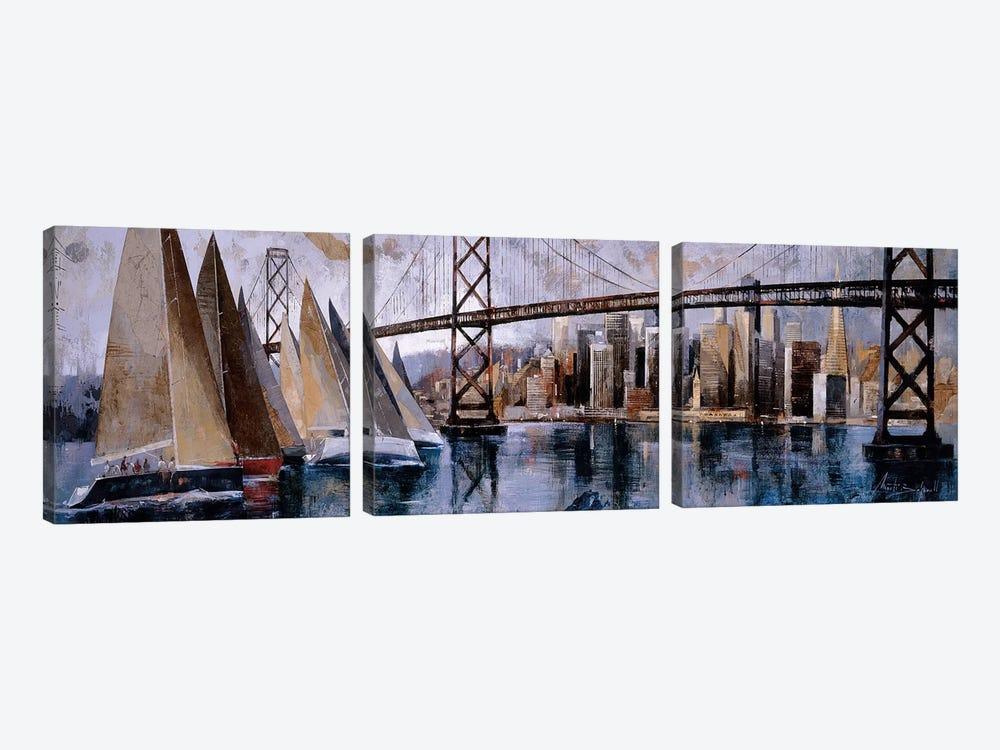 Sailing In San Francisco by Marti Bofarull 3-piece Art Print