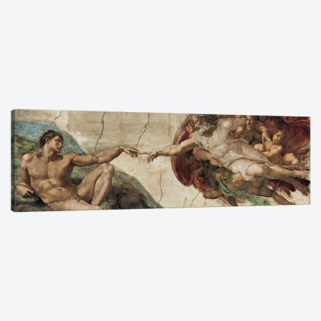 Creazione di Adamo Canvas Print #MBS1} by Michelangelo Canvas Artwork